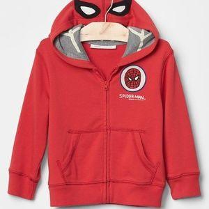 NWT Baby Gap Spiderman Junk Food hoodie sweatshirt